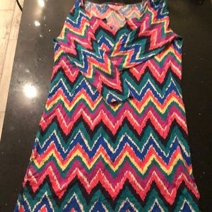 Lilly! 3/4 sleeve multi colored dress